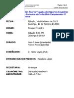 Convocatoria 2ndo Concurso de Salto FPDE 2013