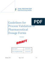 Process Validation - Saudi FDA Guideline