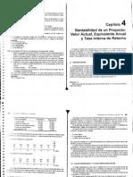 Capitulo 4 Rentabilidad de Un Proyecto VA, EA y TIR