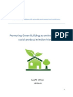 Promoting Green Building as Environment and Social Product in Indian Market