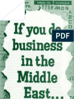 If You Do Business in the Middle East... Remember Certain Pr