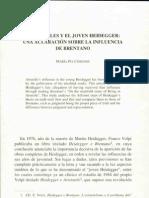 Chirinos, María Pía, Aristóteles y el joven Heidegger. Una aclaración sobre la influencia de Brentano