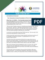 ChronicallyAwesomeFoundation Rare Disease Day Partner Release