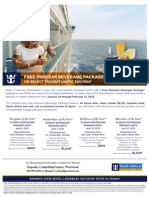 FREE PREMIUM BEVERAGE PACKAGE! ON SELECT TRANSATLANTIC SAILINGS