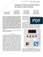 Design and Development of Microcontroller Based Electronic Queue Control System