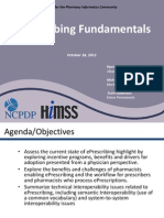 E-Prescribing Fundamentals 2012.10.18