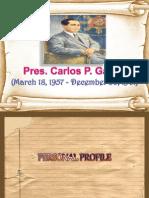 Pres. Carlos P. Garcia