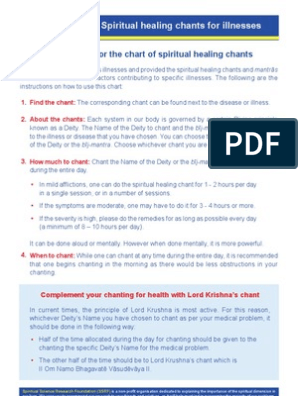 Spiritual Healing Chants _Opt pdf | Faith Healing | Prayer