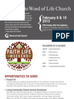 Church Bulletin for February 8 & 10, 2013