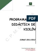 GRANADAprogramacin Didctica de Violn. Curso 2011-12
