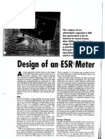 ESR Capacitor Meter Project