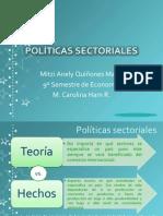 POLÍTICAS SECTORIALES