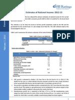 Advance Estimates of National Income 2012-13