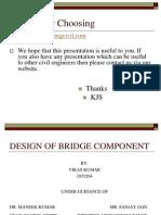 Cep-Design of Bridge Component
