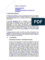 20090708-Los Puntos Controvertidos en El Proceso Civil