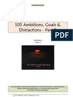 105 Ambitions, Goals & Distractions Part 2