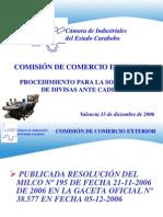 Charla Procedimientos CADIVI No Producción CIEC 15-12-06