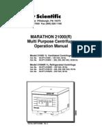 UltraCentrifuge Manual Marathon 21000