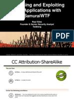 SamuraiWTF Course Slides v14 - BruCON 2012