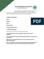 Broadmoor Fellowship Application