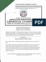 Criminal Complaint Report of Republic Citizens Ombudsman 08022013