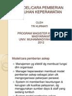 Mk3 Model Pemberian Askep
