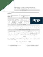 Contrato Honorários