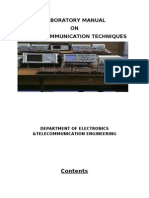 LABORATORY MANUAL ON Digital COMMUNICATION TECHNIQUES