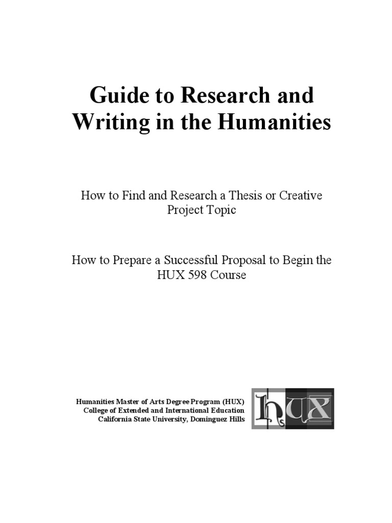 csudh thesis and project guide