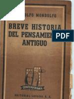 Mondolfo-Breve Historia Del Pensamiento Antiguo