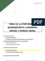 10. La Pintura Del Cinquecento.leonardo,Rafael y M Angel
