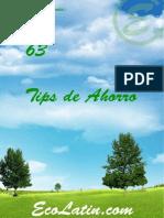 63 Tips de ahorro para cuidar el medio ambiente.