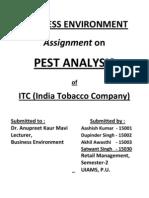 PEST Analysis ITC