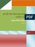 40 de Thi Thu Mon Hoa Ltdh 2013