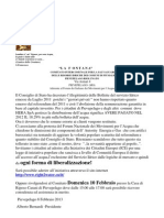 ACQUA _comunicato Comitato La Fontana -1-2013