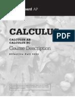AP Calculus AB-BC Course Description, Effective Fall 2012 (Sample Exams)
