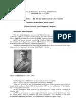Nikola Obreshkov -His Life and Mathematical Achievements - HMTM 2012 Sarospatak