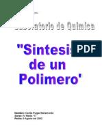 Polimerizacion de Urea Formaldehido