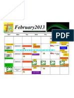 Calendar FEBRUARY 2013 His Life Ministries