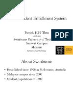 Online Student Enrollment System