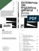 Benveniste Emile Problemas de Linguistica General