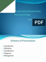 Haemorrhage Post Pancreaticoduodenectomy