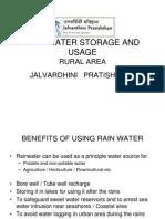 Rain water storage and usage