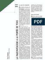 La Paleontologie Pour Tous. Yves Coppens Entretiens