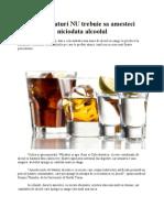 Cu ce bauturi NU trebuie sa amesteci niciodata alcoolul