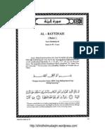 Tafsir Ibnu Katsir Surat Al Bayyinah