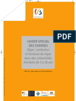Cahier Special Des Charges (Repas Scolaires)