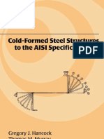Cold-Formed Steel Structures to the AISI Specification - 0824792947