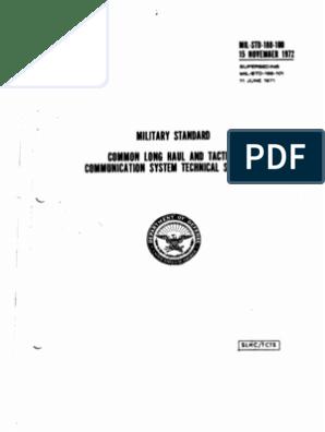 MIL-STD-188-100   Computer Network   Modulation