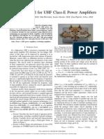 [CSICS09-JohnH-Nestor] Design Method for UHF Class-E PA